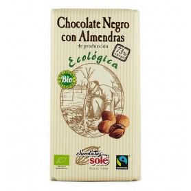 Ciocolata neagra BIO 73% cacao, cu migdale Chocolates Sole, 150 gr