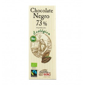Mini tableta ciocolata neagra BIO 73% cacao Chocolates Sole, 25 g