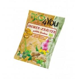 BIO 4 YOU – Dropsuri BIO umplute din ghimbir si plante, 75 g