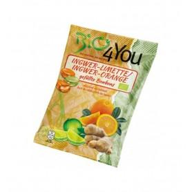 BIO 4 YOU – Dropsuri BIO din ghimbir-lime si ghimbir-portocale, 75 g