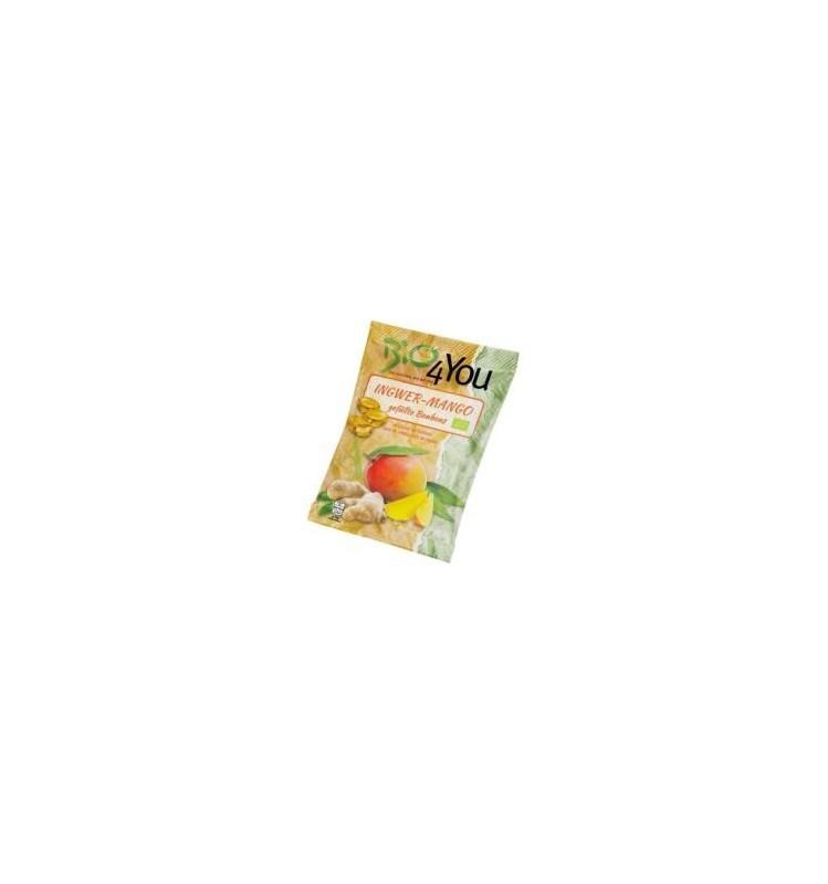 bio 4 you – dropsuri bio cu ghimbir si mango, 75 g