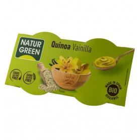 Desert Bio cu Quinoa si Vanilie Natur Green - 2x125 g