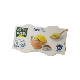 NATUR GREEN – DESERT BIO CU COCOS SI ANANAS, 2X125 G