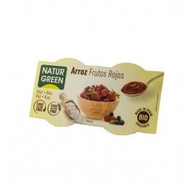 Natur Green Desert Bio cu Orez si Fructe Rosii - 2x125 g