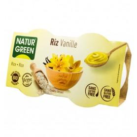 NATUR GREEN – Desert BIO de orez cu vanilie, 2x125g