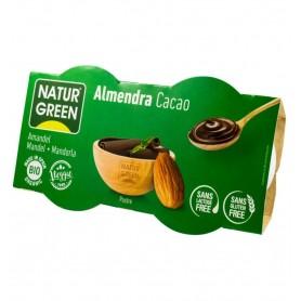 NATUR GREEN – Desert BIO de migdale cu cacao, 2x125g