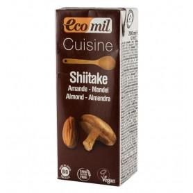 Crema Vegetala Bio pentru Gatit din Migdale si Shiitake - 200 ML