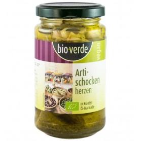 Bio Verde - Inimi Bio de anghinare, marinate in ulei si verdeturi, 200g