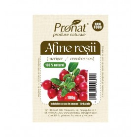 Afine rosii uscate, 100g