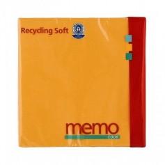 Memo - Servetele soft din hartie reciclata cu 3 straturi, 20 buc