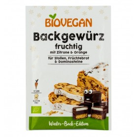 Biovegan – Condiment BIO pentru prajituri, cu lamaie si portocala, 15g