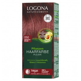 LOGONA – Vopsea de par 100 % naturala, 100g Maro Mahon, - Nuanta 050