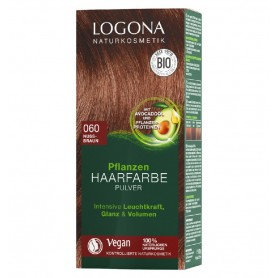 LOGONA – Vopsea de par 100 % naturala, 100g MARO NUCA, - Nuanta 060