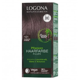 LOGONA – Vopsea de par 100 % naturala, 100g Negru Intens, - Nuanta 101