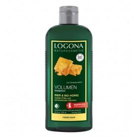 LOGONA - Sampon bio pentru volum cu bere si miere, 250 ml