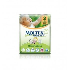 Scutece ECO pentru bebelusi (4-9kg), nr. 3, pachet 34 buc