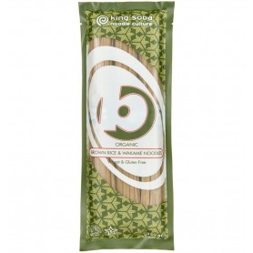 King Soba – Taitei BIO din orez brun si alge wakame, 250g