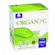 Absorbante intime Organyc din bumbac organic pentru noapte - 10 buc