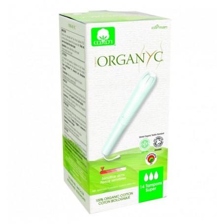 Tampoane Organyc SUPER din bumbac organic, cu aplicator 14 buc.