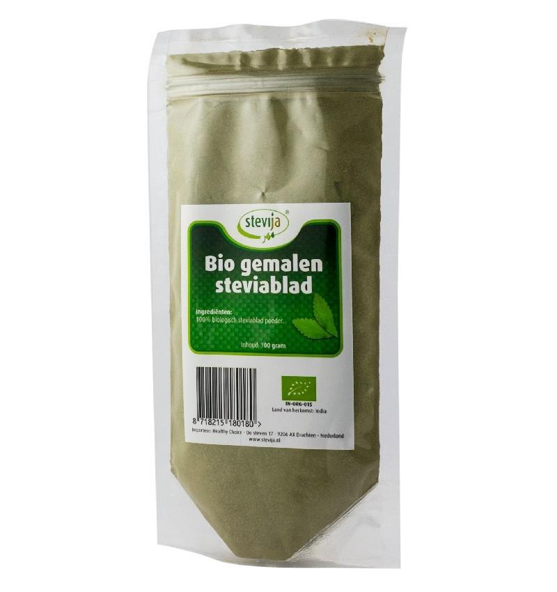 stevija - pulbere din frunze de stevie bio, 100 g