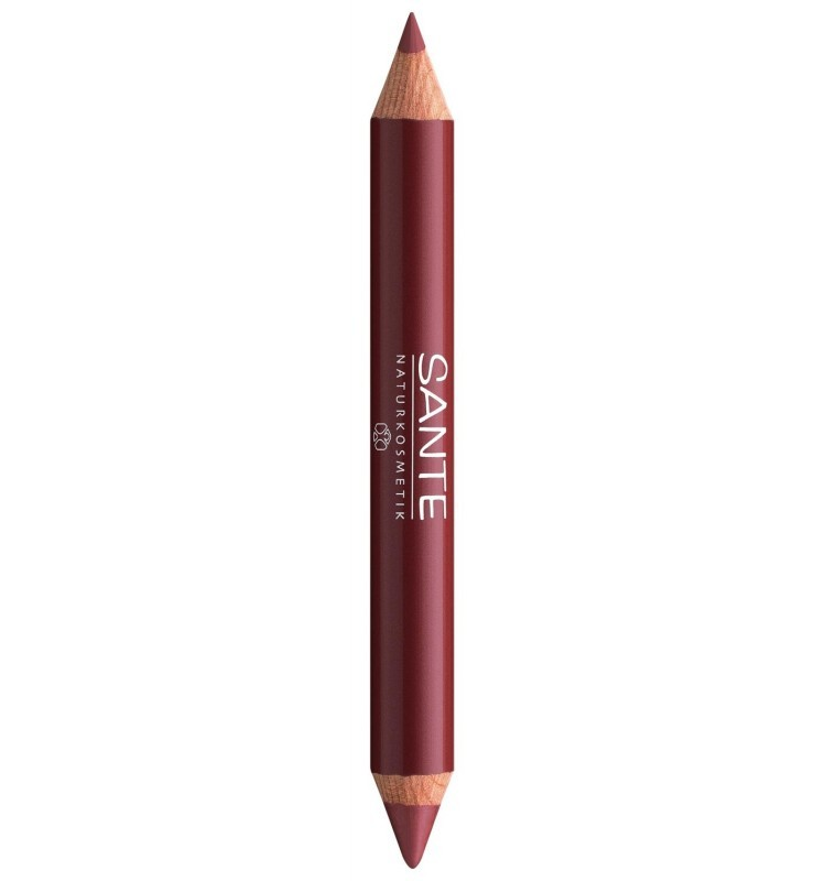 SANTE – Creion de buze Lip Duo Contur si Gloss No. 02 Natural look, 4 g