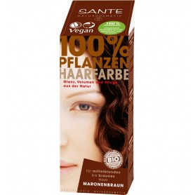 SANTE - Vopsea bio pentru par, din plante, Castaniu, 100 g