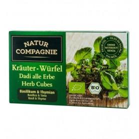 Natur Compagnie - Cuburi bio cu verdeturi, busuioc si cimbru, 8 cuburi