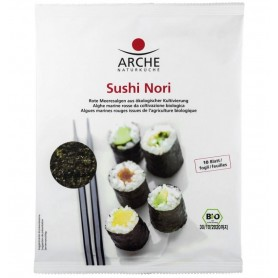 Arche – Sushi Nori, Alge marine bio pentru sushi, 30g