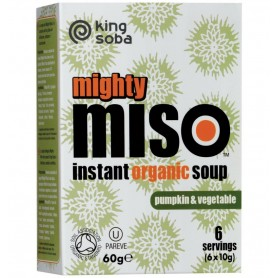 King Soba – Mighty Miso – Supa Miso Bio Instant cu Dovleac si Legume, 60g