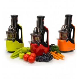 Storcator de fructe si legume cu melc Oursson JM7002/RD, 240 W, 60 RPM, presare la rece, recipient suc 1 l, Rosu