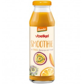Voelkel - Smoothie bio cu mango, fructul pasiunii si portocale, 280 ml