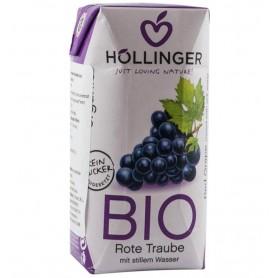 Suc de struguri rosii Bio cu pai Hollinger, 200 ml