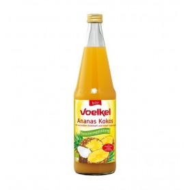 VOELKEL - Suc BIO de ananas cu cocos, 0.7 L
