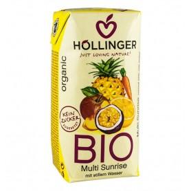 Hollinger – Multi sunrise suc BIO din amestec de fructe, 0,2 l