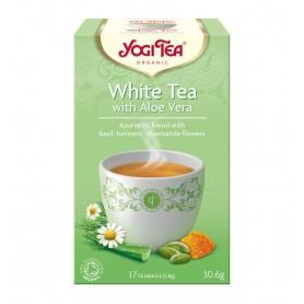 Ceai Bio Alb cu Aloe Vera - Yogi Tea, 30.6gr
