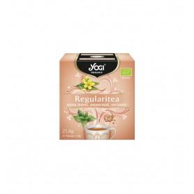 Ceai Laxativ cu frunze de senna, menta si coriandru, 12 plicuri - 21,6g Yogi Tea
