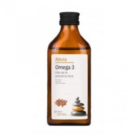 Omega 3 Ulei de In presat la rece - 250 ML Alevia