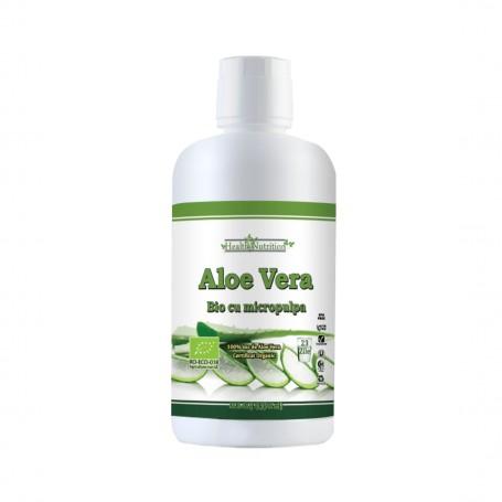 Suc de Aloe Vera cu Micropulpa 100% pura - 946 ML Health Nutrition