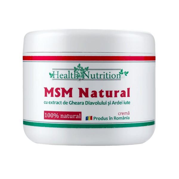 msm natural crema - 200 ml health nutrition