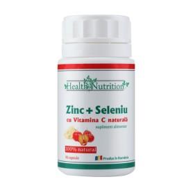Zinc cu Seleniu si Vitamina C - 90 capsule Health Nutrition