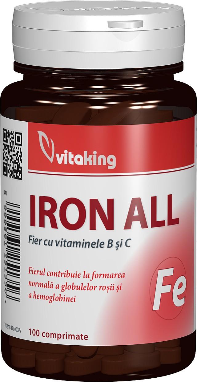 fier cu vitaminele b si c - 100 comprimate