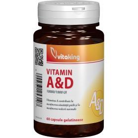 Vitamina A si D (10.000/1.000 Ui) - 60 cps gelatinoase