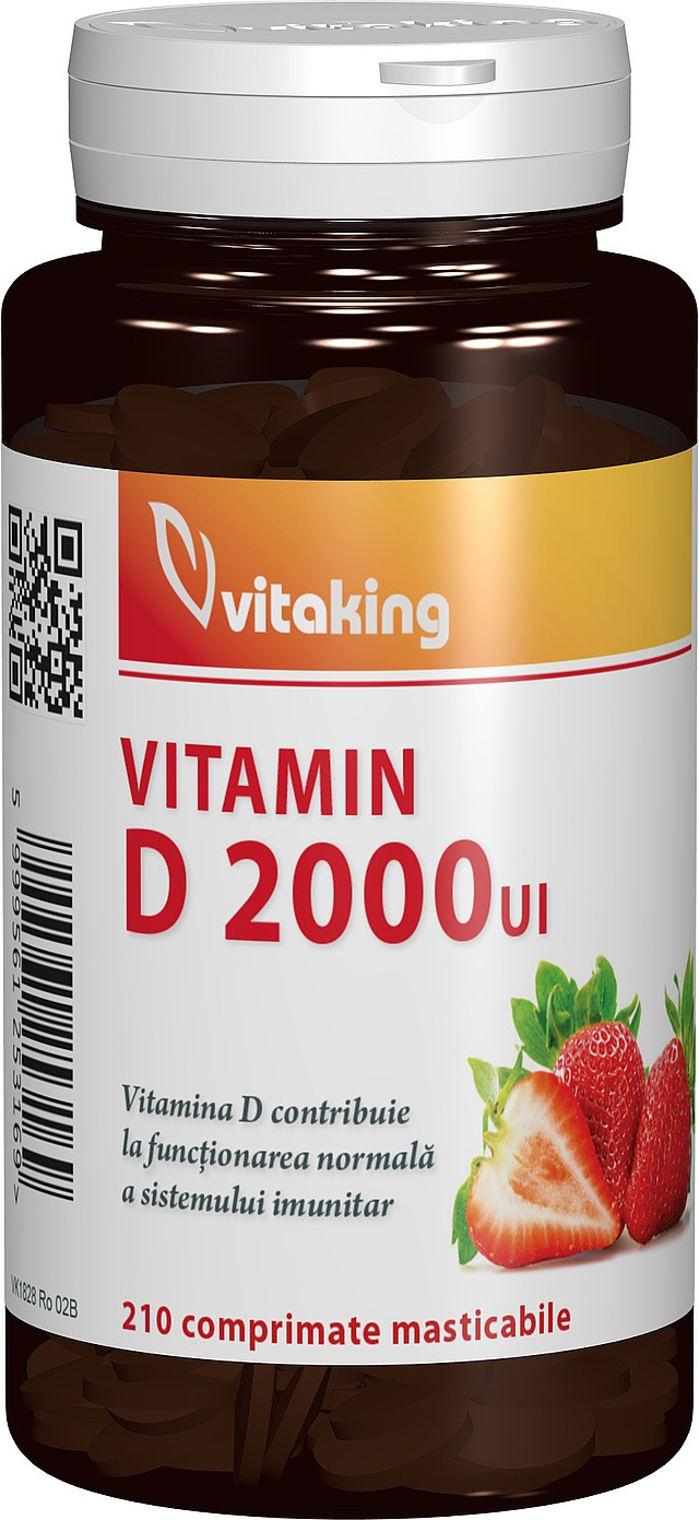 vitamina d3 2000ui - 210 comprimate masticabile