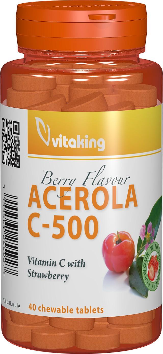 vitamina c 500 mg cu acerola - 40 comprimate masticabile