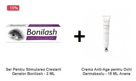Pachet Ser Pentru Stimularea Cresterii Genelor +Crema Anti-Age pentru Ochi Avene