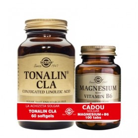 Pachet Tonalin CLA 60cps + Magnesium cu B6 100 tb GRATIS Solgar