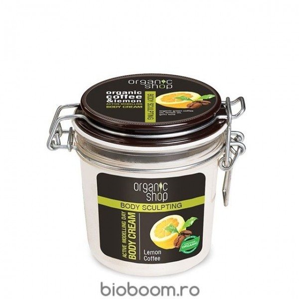Crema de Corp Modelatoare Bio cu Cafea si Lamaie 350 ml