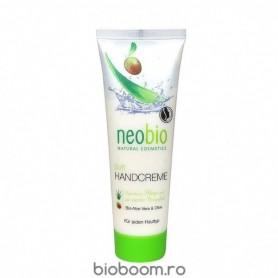 Crema de Maini Bio cu Aloe Vera si Ulei de Masline, 75ML