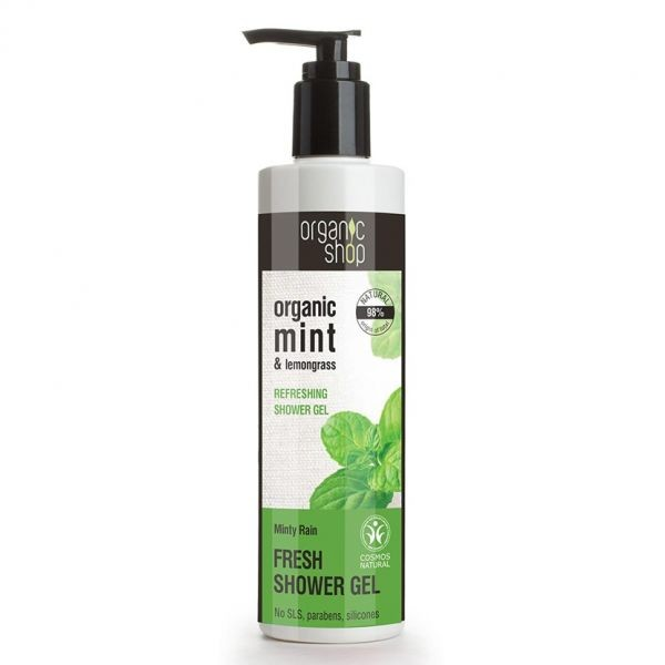 Gel de Dus Racoritor cu Menta si Lemongrass, Bio 280 ml