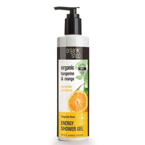 Gel de Dus Energizant Bio cu Mandarine si Mango 280 ml